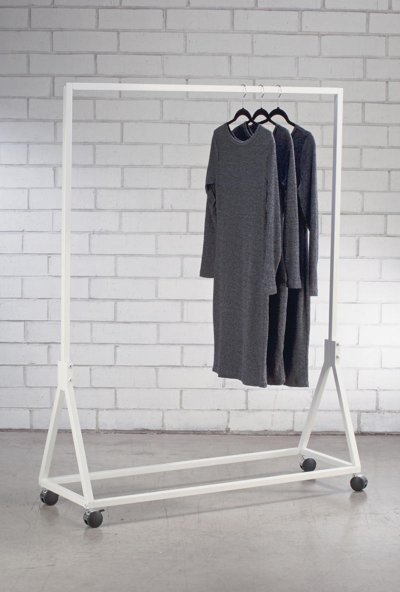 Triangle Base Metal Garment Rack