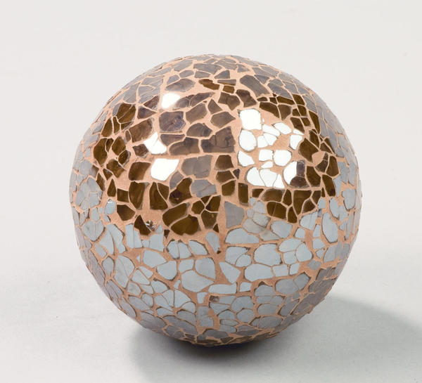 Brown Mosaic Glass Decor Balls