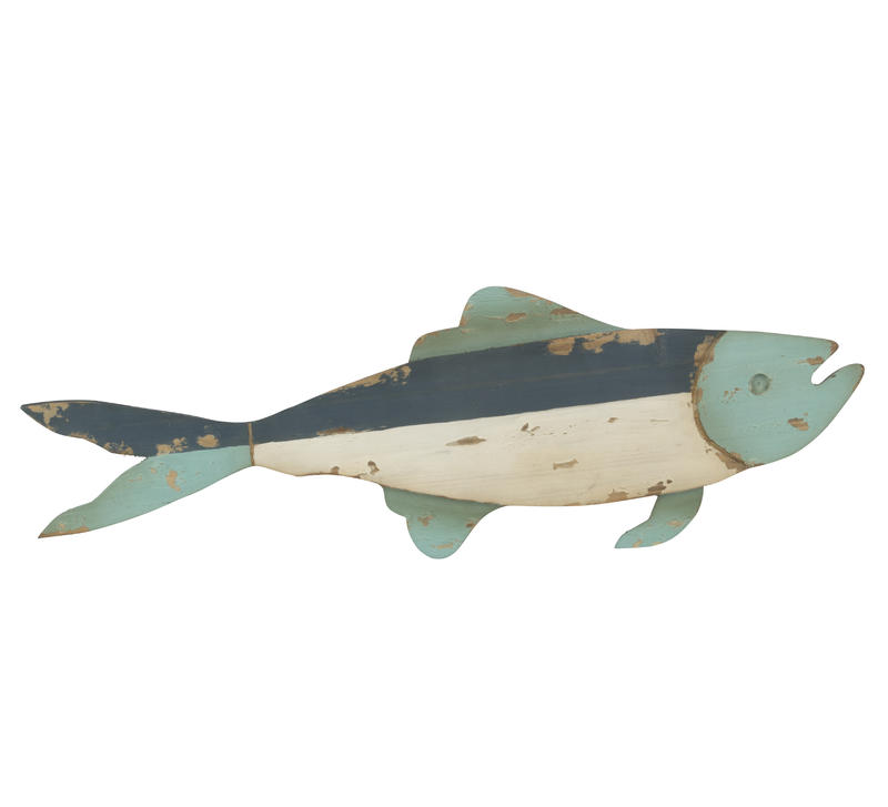 Decorative Wooden Wall Fish Decor