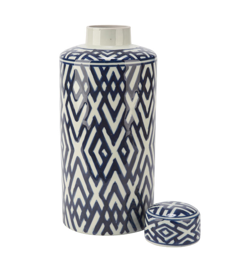 Tall Blue/White Jar