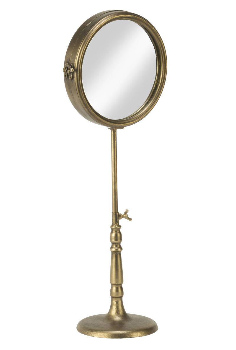 Two Sided Mirror with Adjustable Height