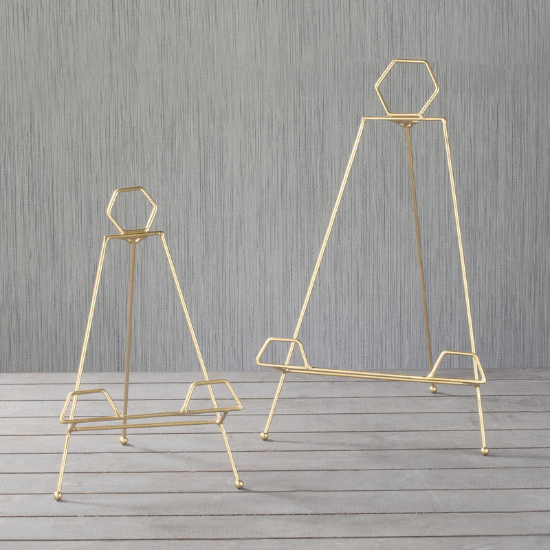 Tabletop Gold Metal Easel