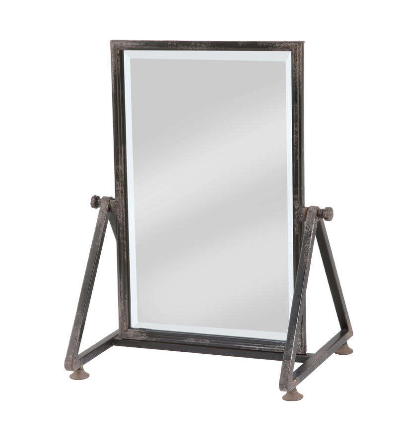 Large Metal Frame Tabletop/Floor Mirror