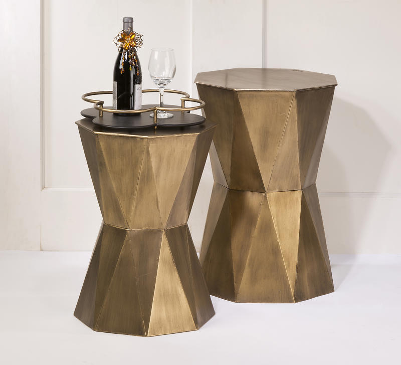 Geometric Accent Tables