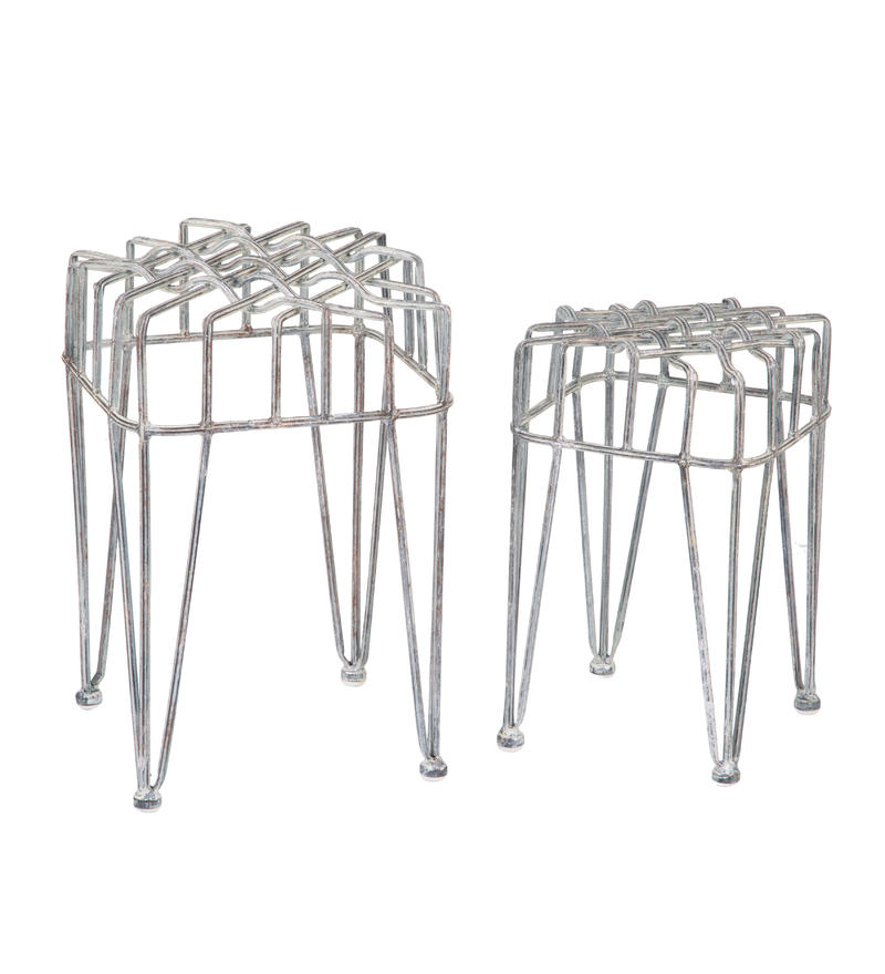 Metal Plant Stands (set of 2)