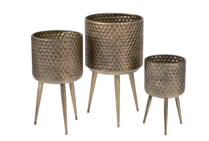 Textured Metal Bins Set/3