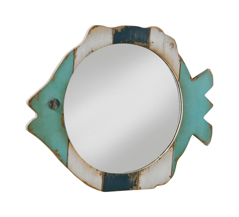 Wooden Fish Mirror