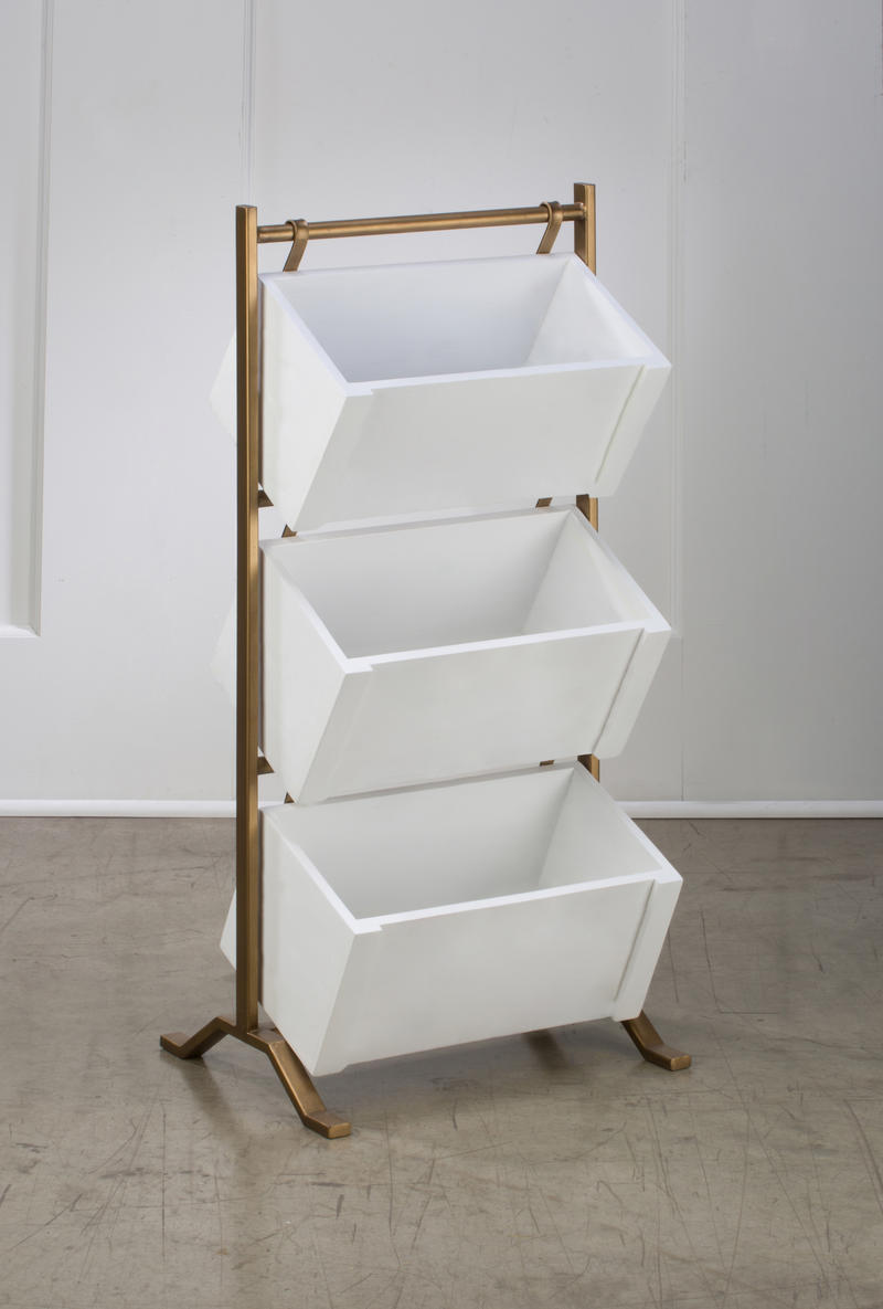 3 Tier Wooden Crate Stand - White