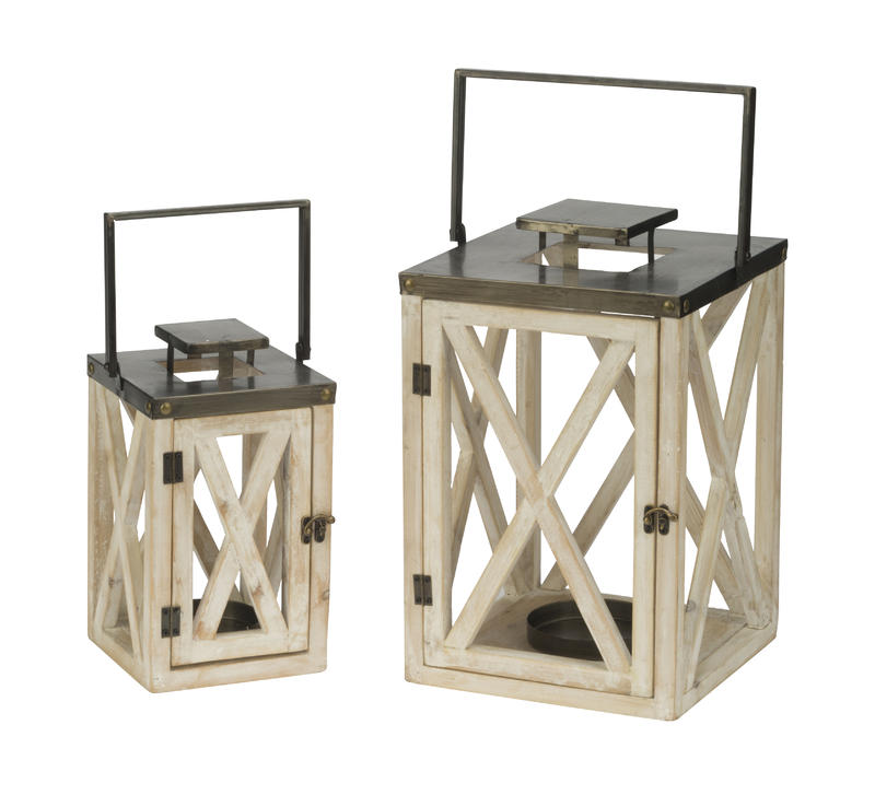 Set of 2 Lighthouse Lanterns