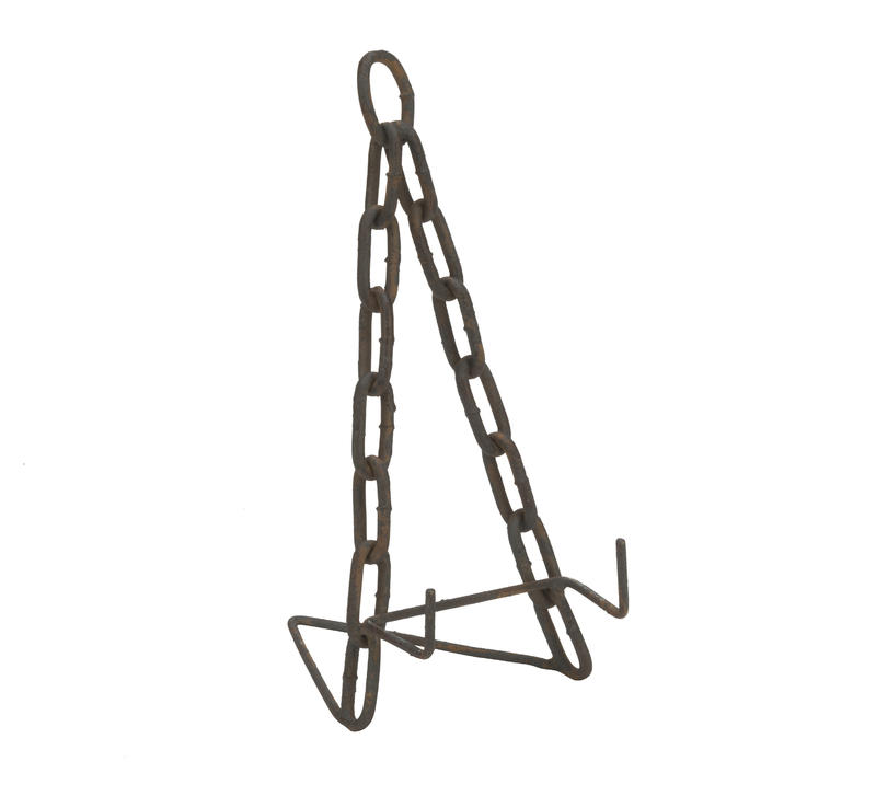 Small Two-Tone Rustic Brown Chain Easel
