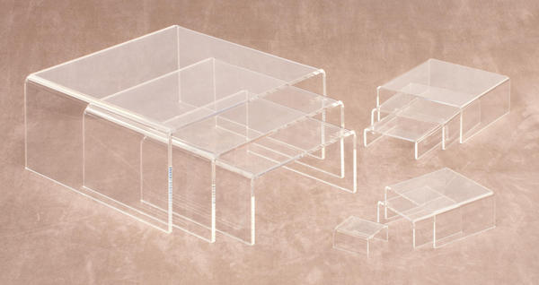 Clear Acrylic Low Profile Risers