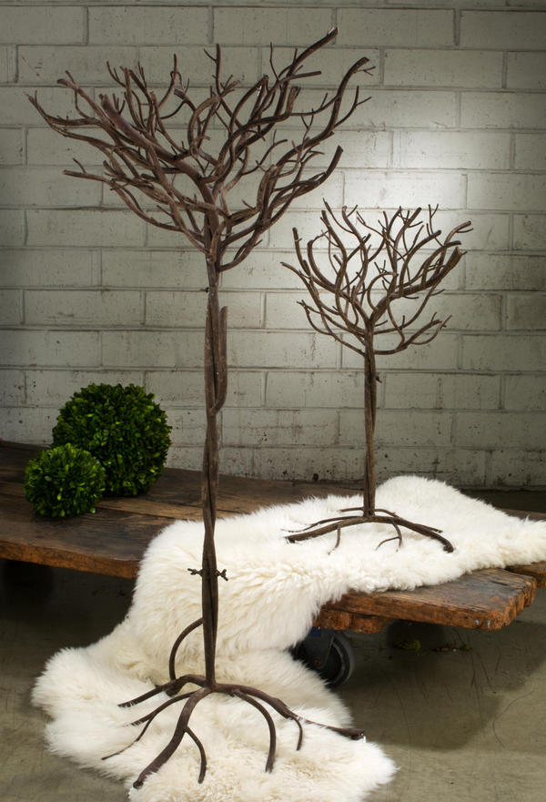 Brown Natural Metal Trees