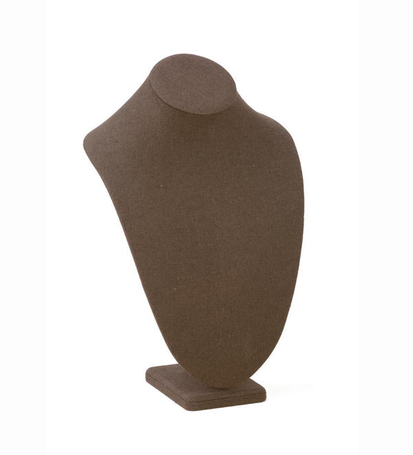 Large Chocolate Linen Neck Form