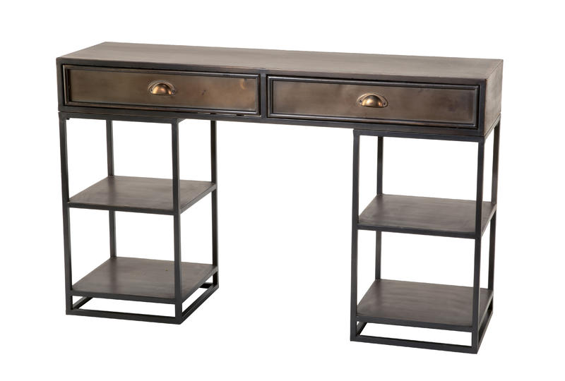 Metal Desk with Shelves