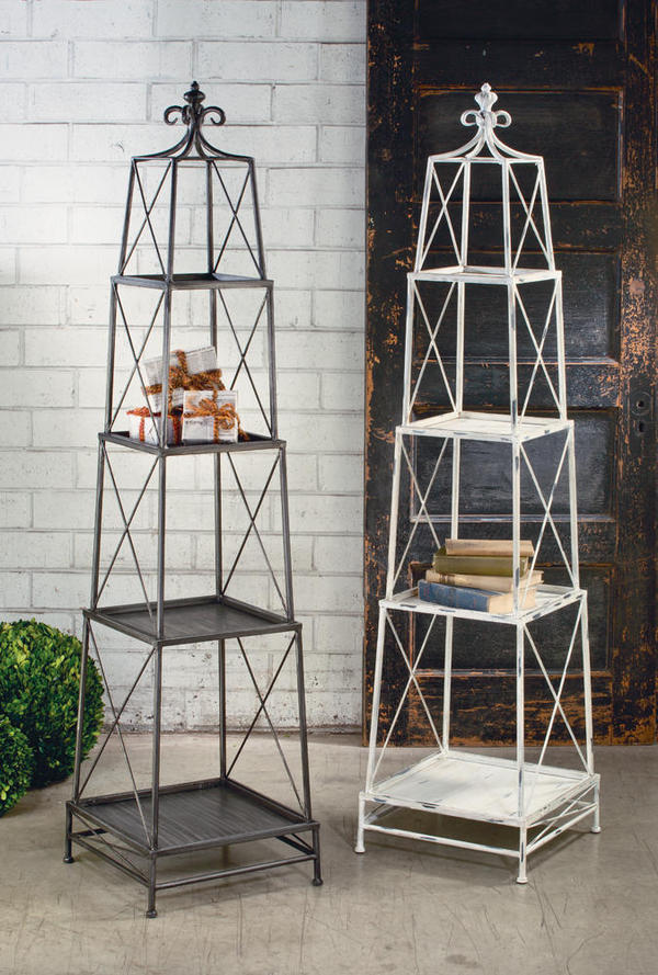 Gunmetal Stackable 4 Tier Metal Obelisk