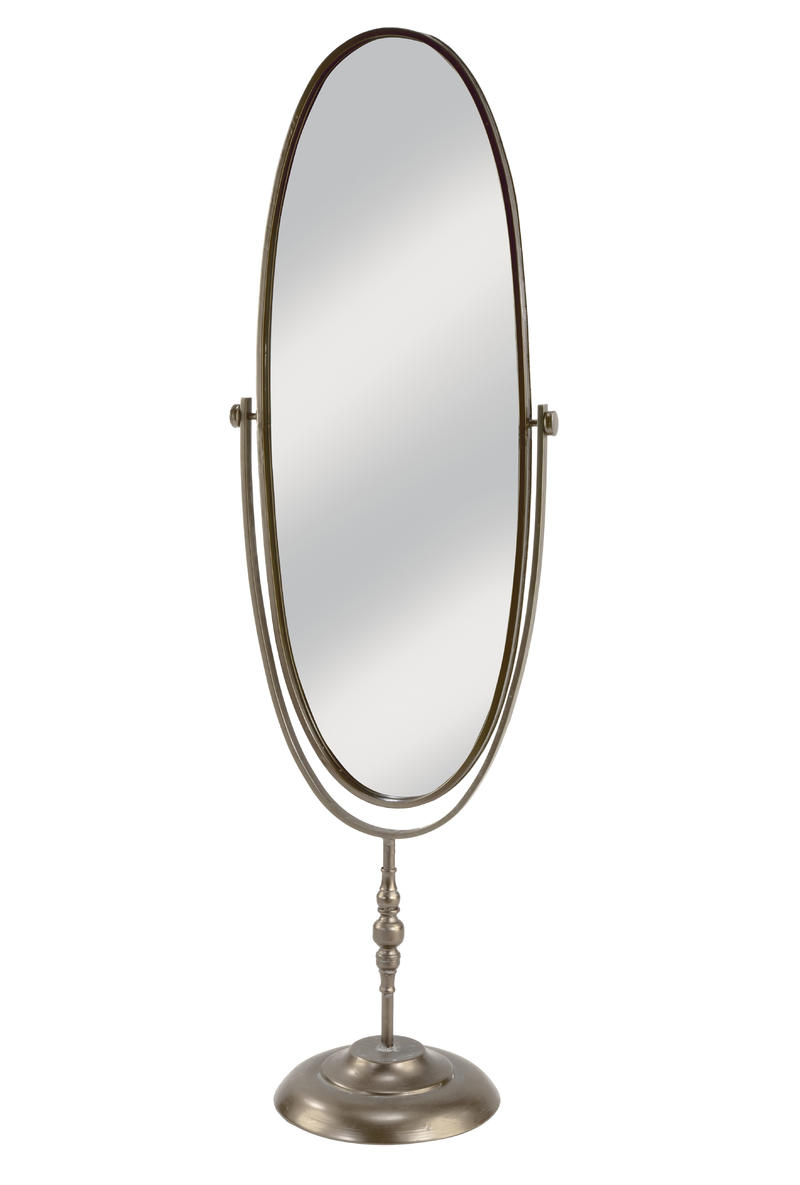 Oval Metal Floor Mirror