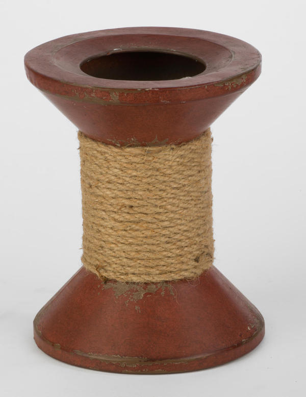 Dark Red Spool Wine & Candle Holder