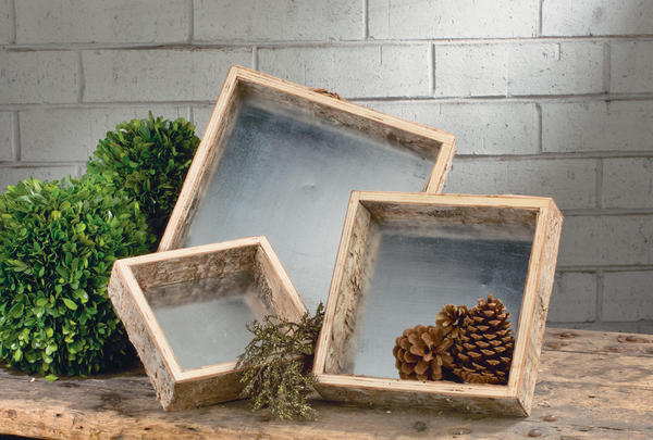 Birch Wrapped Trays - Set of 3
