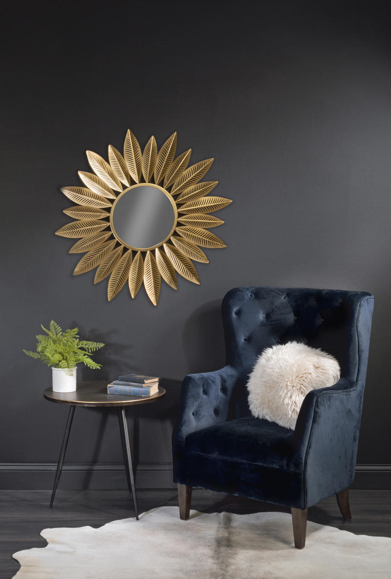 Feather Mirror - Metal