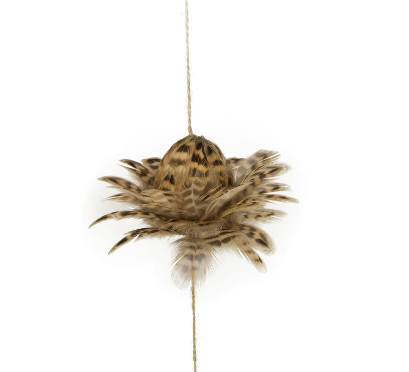 Spotted Pheasant Feather String Decor