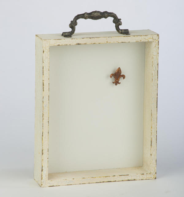Shabby Chic Drawer Wall Display - Cream