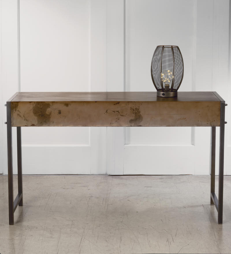 Bronze Metal Console Table