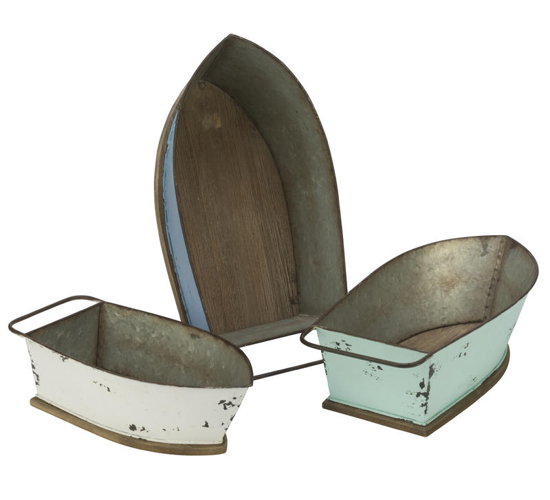 Distressed Metal Boats