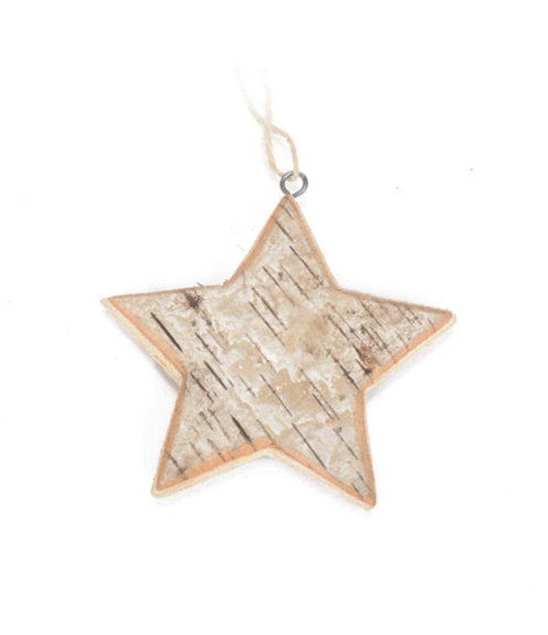 Birch Star Ornament - Set of 6