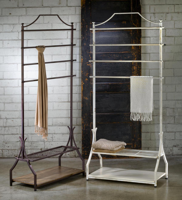 Garment Rack with Wood Veneer Base