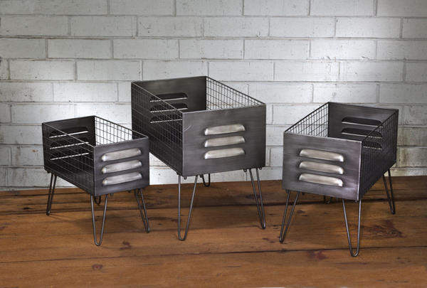 Set/3 Elevated Locker Baskets