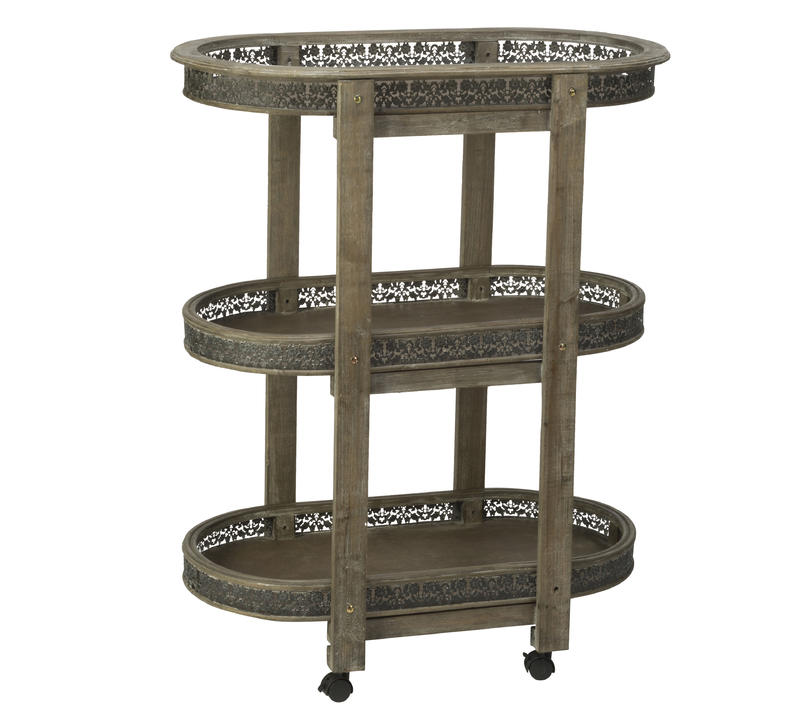 Oval Wood 3 Tier Display