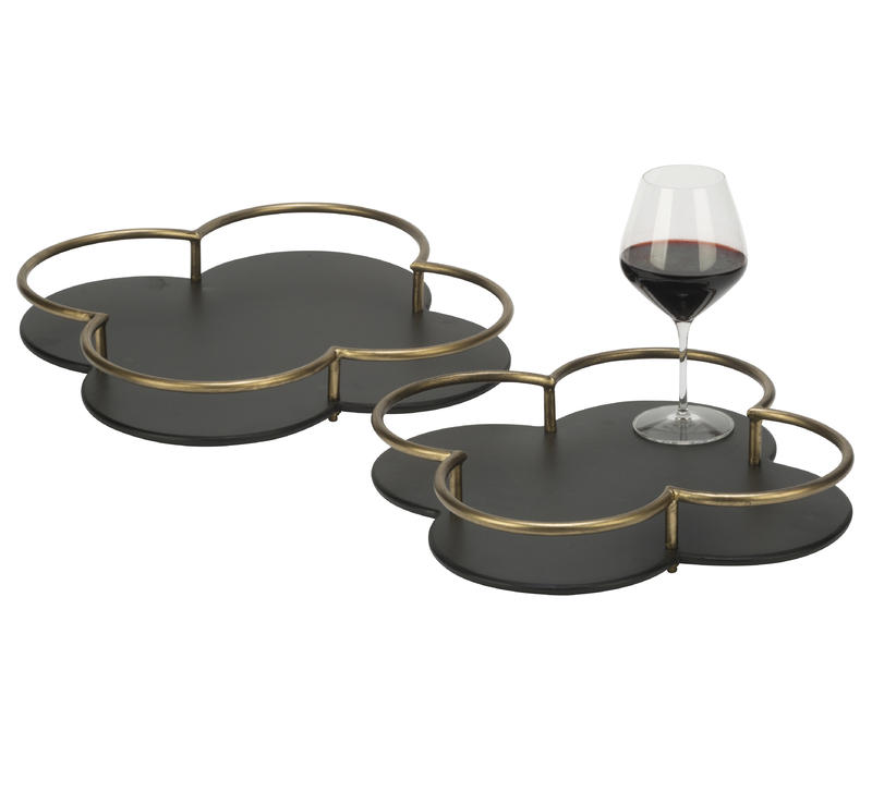 Chic Clover Tray Set