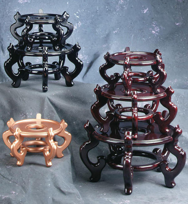 Wooden Fishbowl Stands