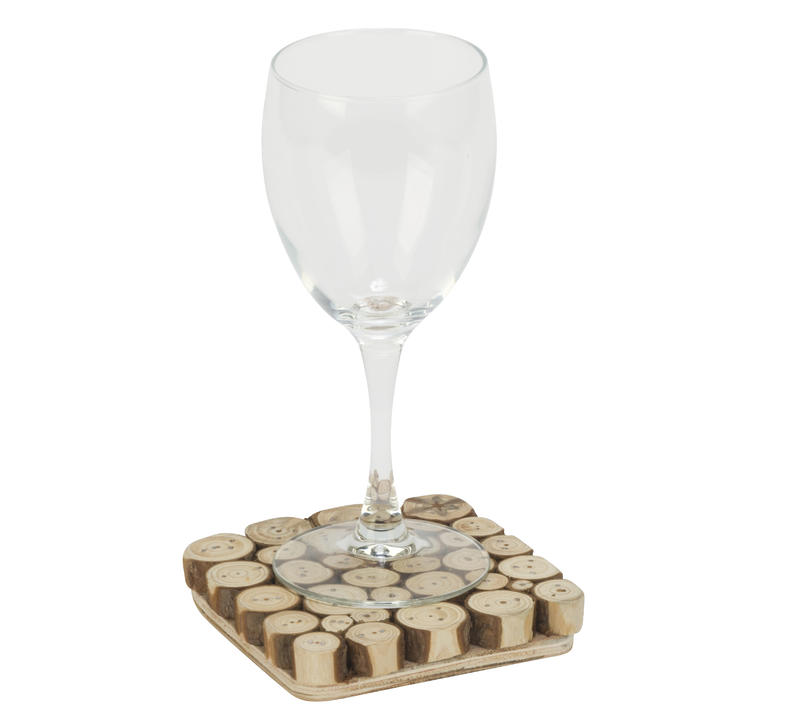 Wood Slice Square Coaster