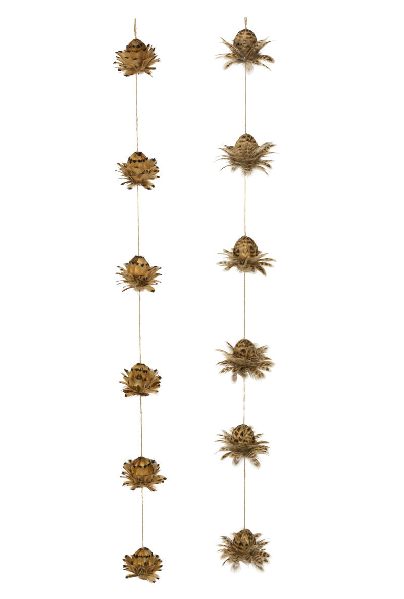 Pheasant Feather String Decor