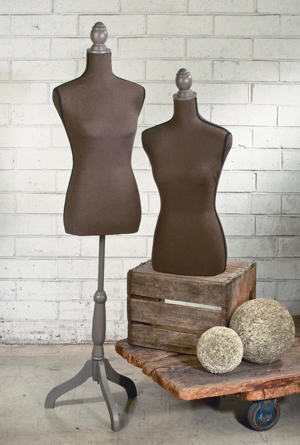 Brown Linen Styrofoam Body Forms