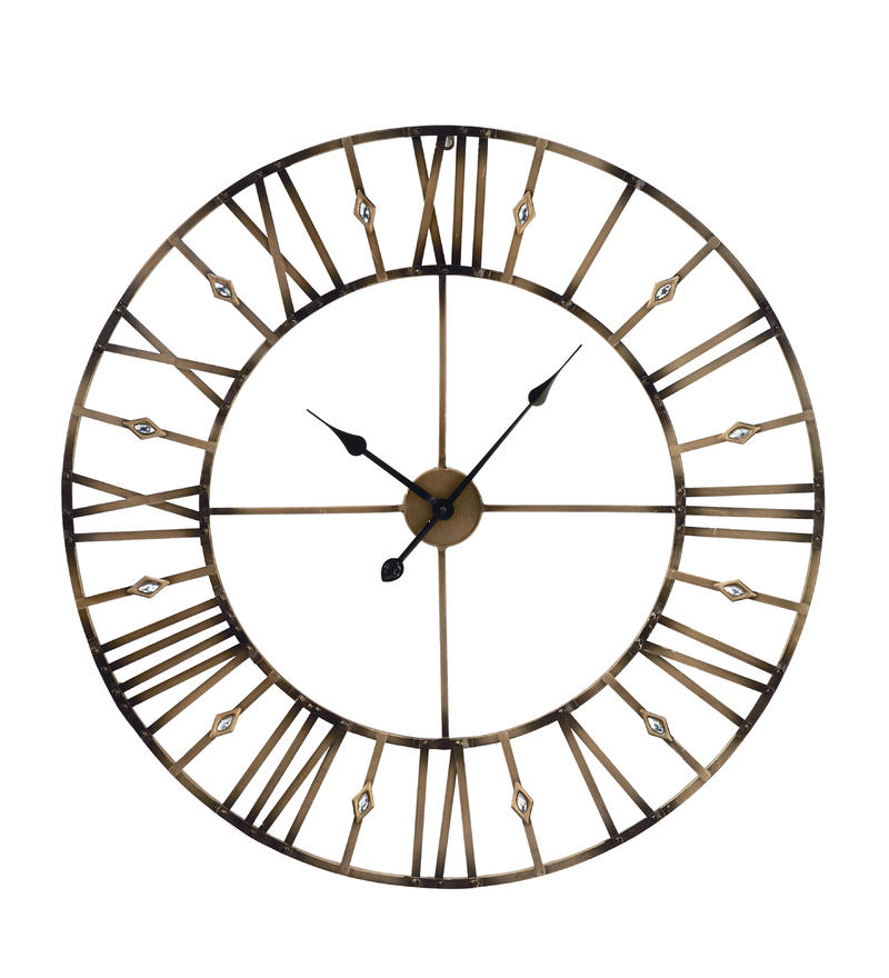 Jeweled Metal Wall Clock