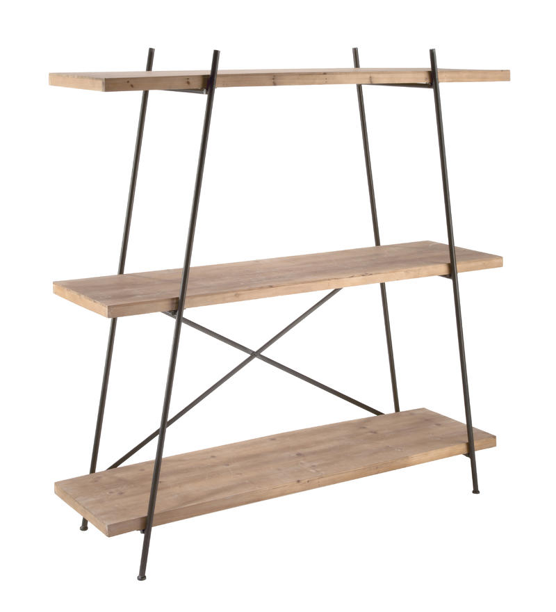 Metal & Wood Bookshelf