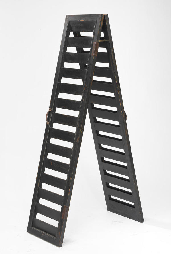 Rustic Black 2-Sided Shutter Ladder