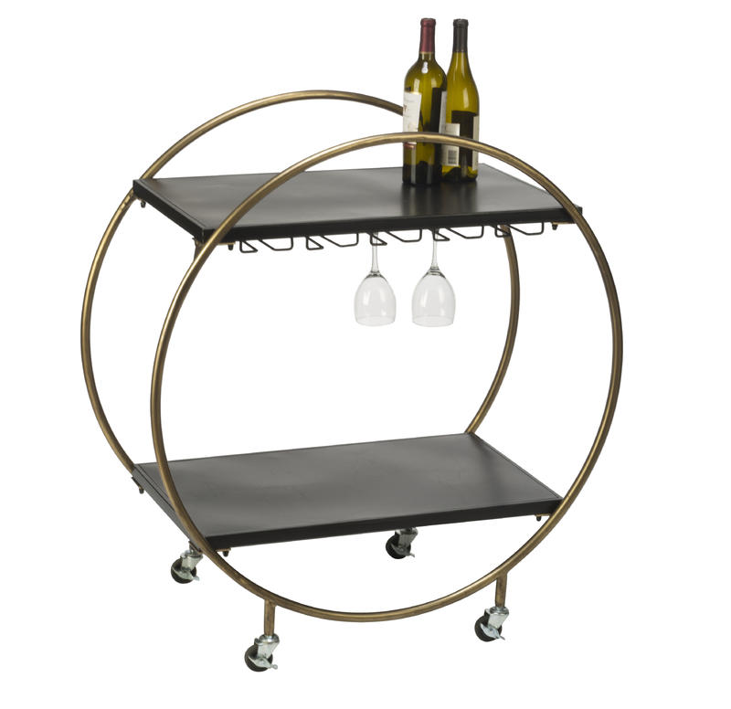Retro Rolling Bar Cart
