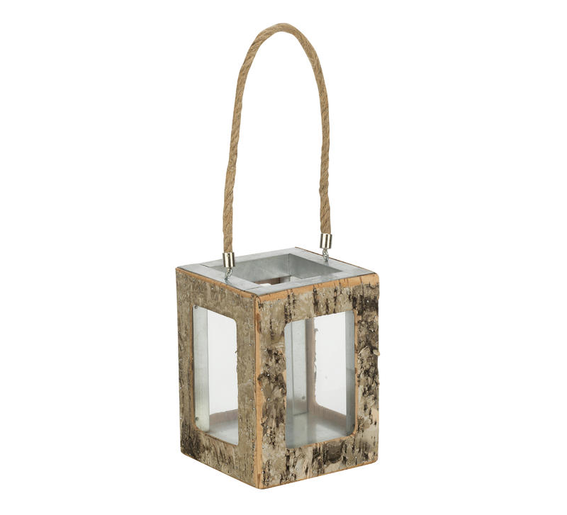 Natural Birch Wood Lantern