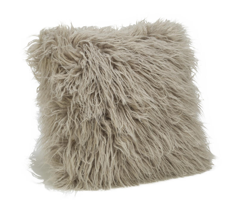 Faux Fur Pillow Cover - Taupe