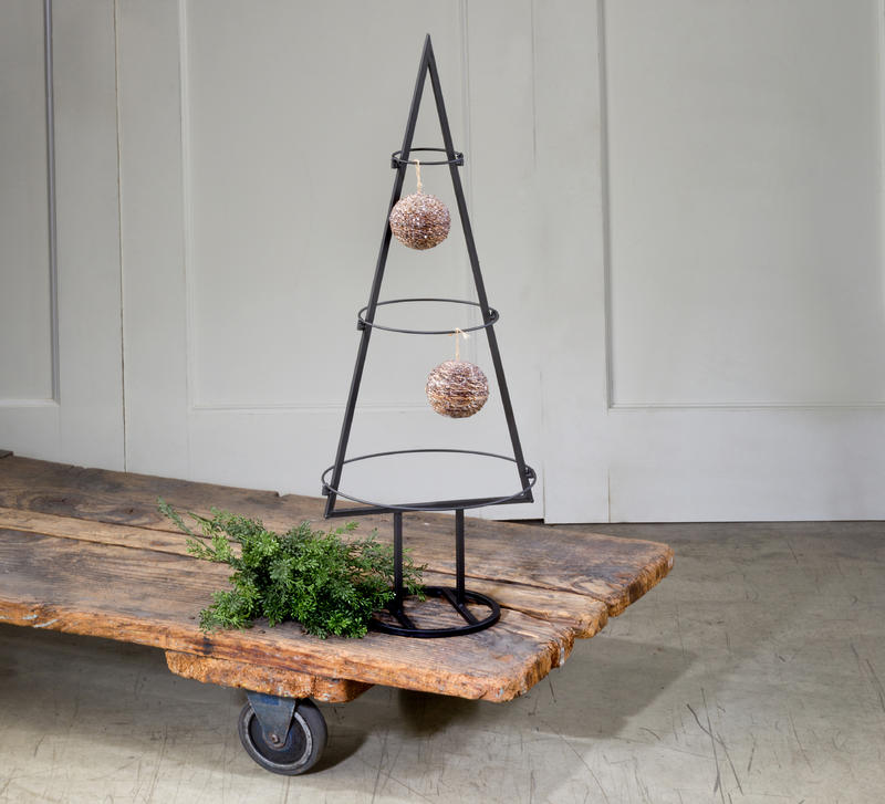 Small Metal Tabletop Ornament Tree Display