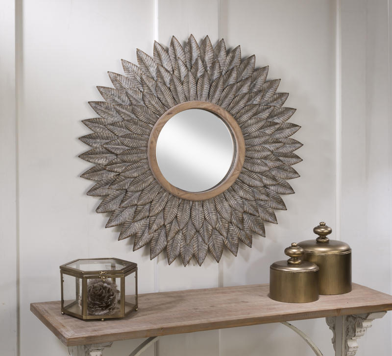 Feather Burst Wall Mirror