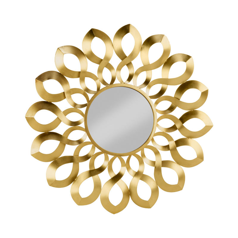Gold Wave Starburst Mirror