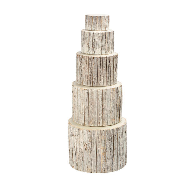 Whitewash Bark Wrapped Risers