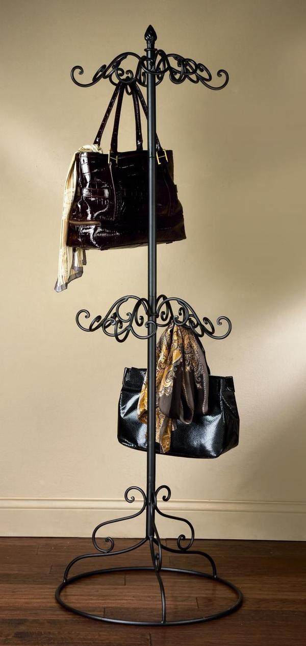 Black Metal Scarf & Purse Display