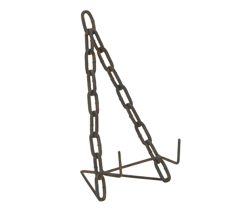 Large Two-Tone Rustic Brown Chain Easel
