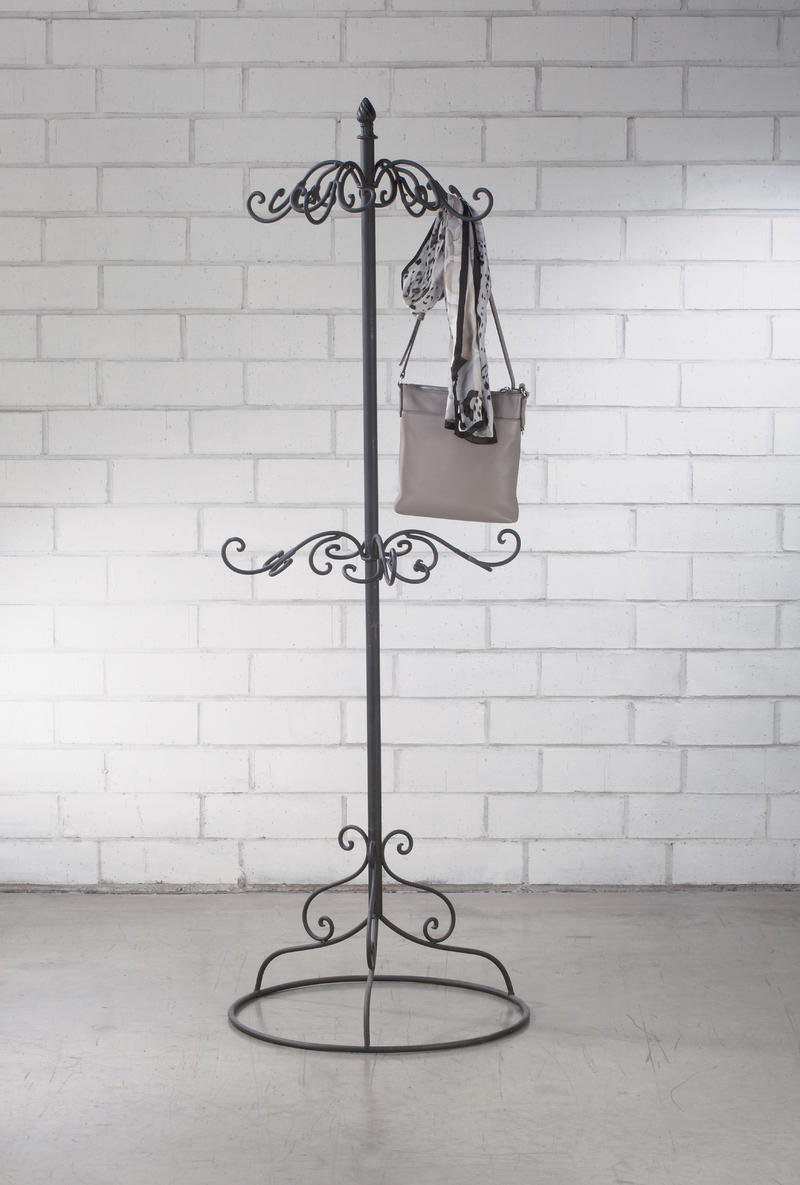 2-Tier Black Coat or Purse RAck