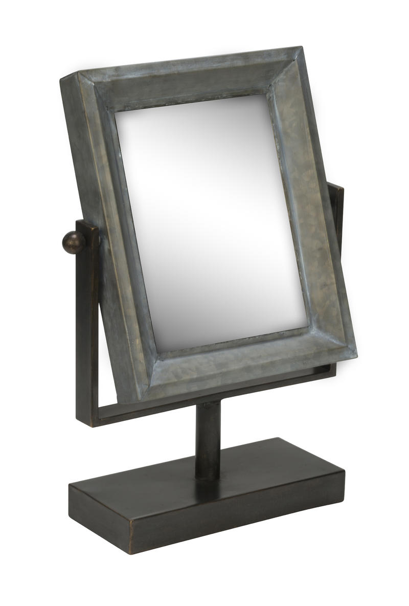 Tin Frame Table Top Mirror